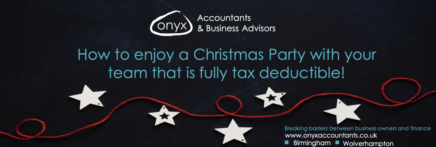 How to enjoy a Christmas Party with your team that is fully tax deductible!