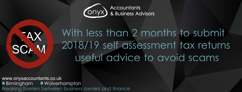 Avoid self assessment tax scams