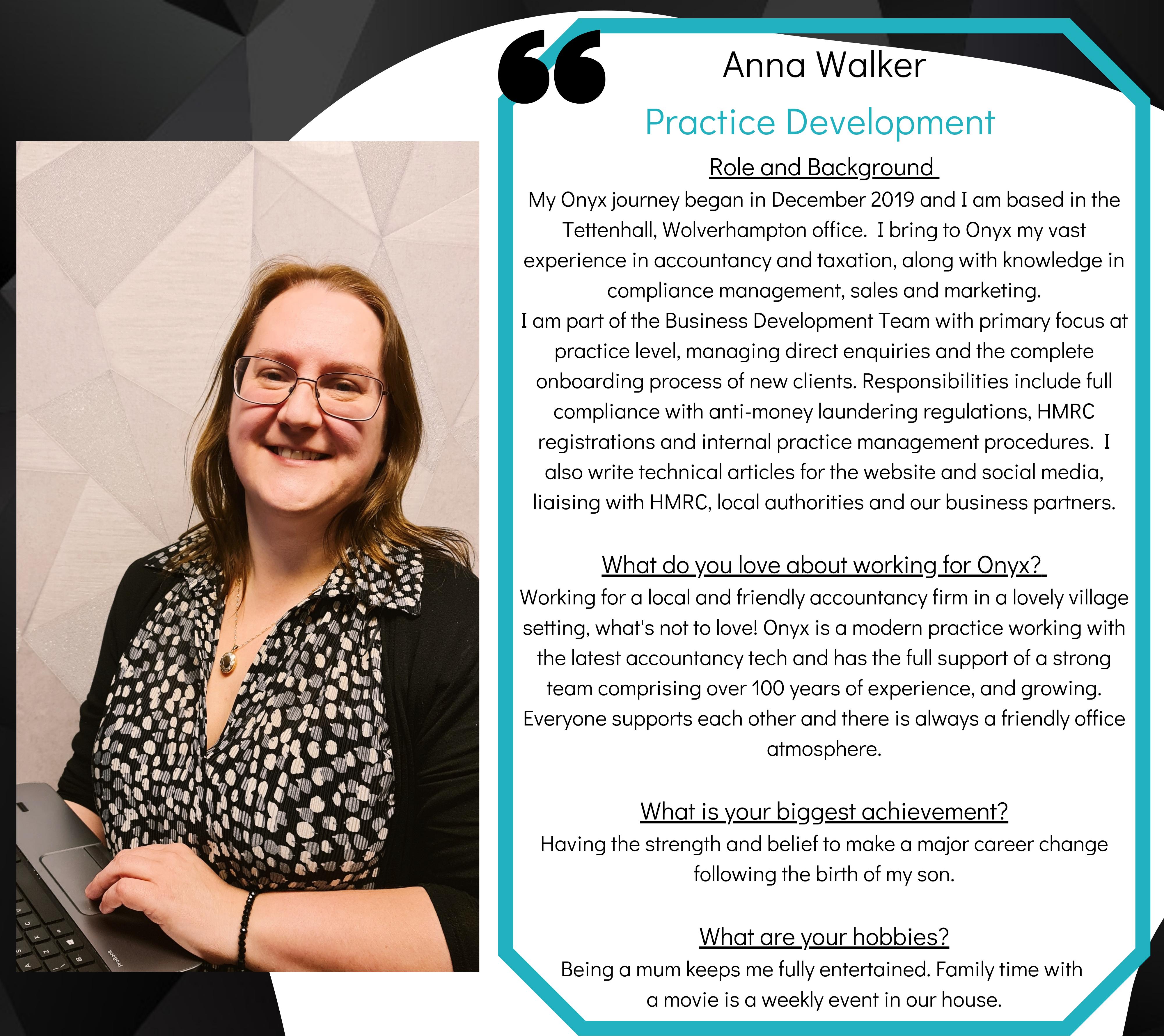 Anna Walker - Bio